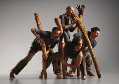 D'os et d'écorce cris et didgeridoos